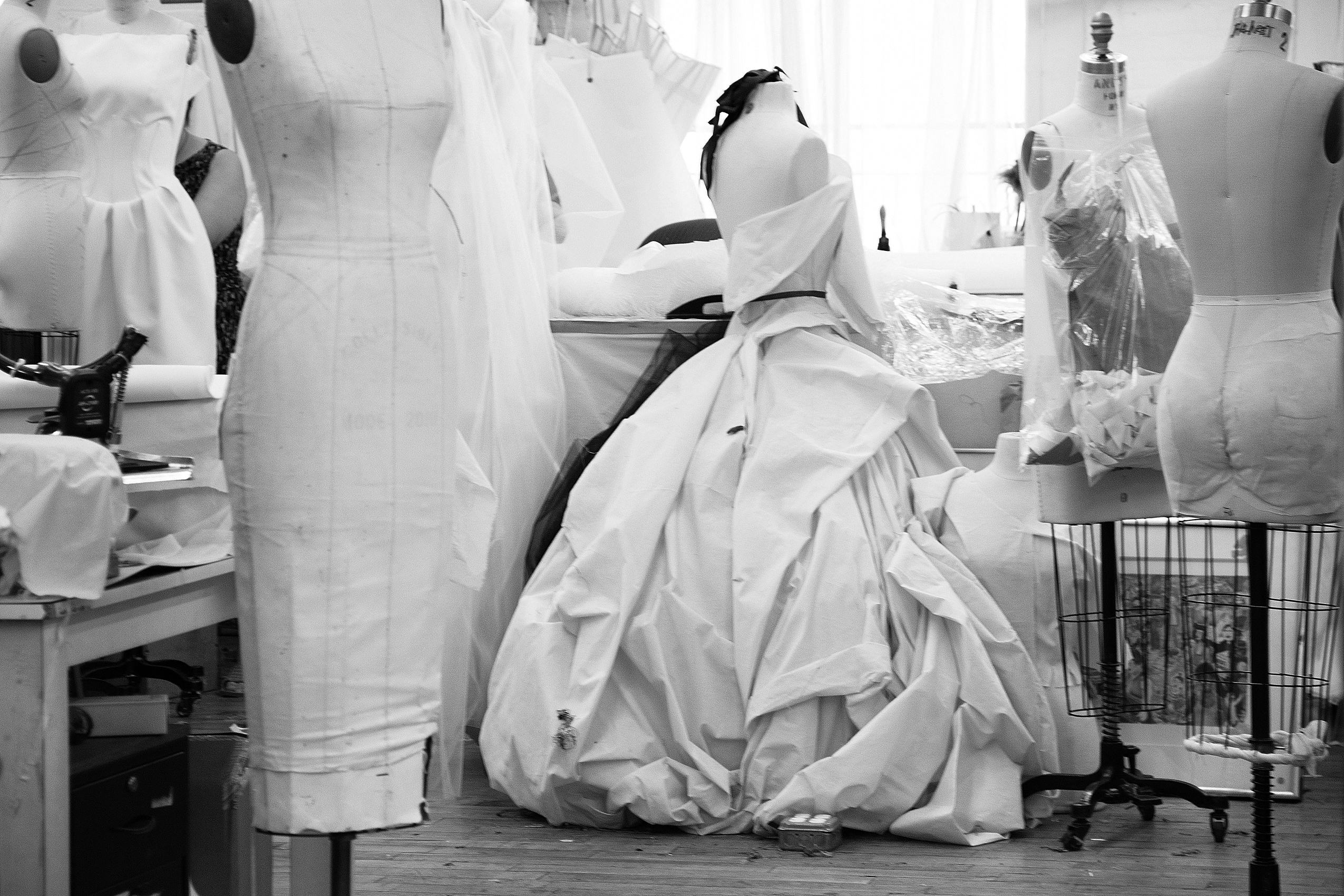 Zac Posen's design studio.