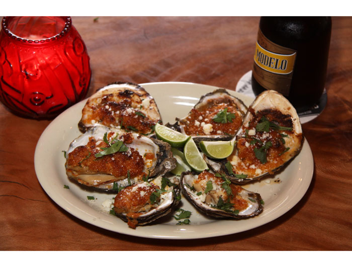 Chipotle and lime BBQ oysters