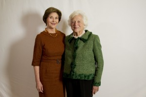First Ladies: Laura Bush will help mother-in-law Barbara celebrate her 90th today.