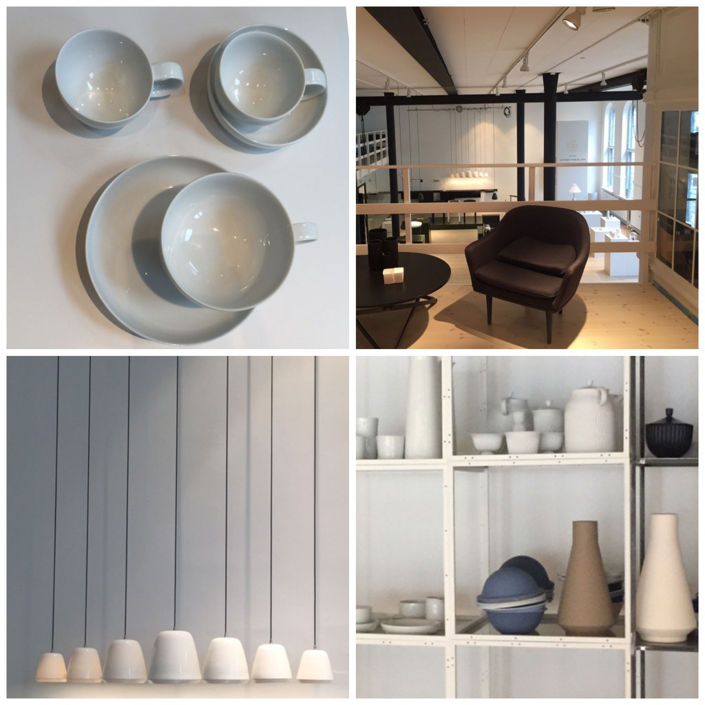 Lygnby Porcelain and the Notre Dame lamp series; perfectly peaceful in the Karakter Showroom I Copenhagen