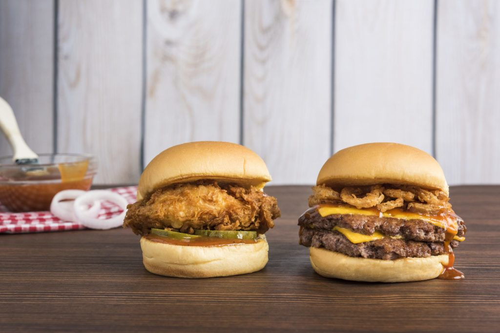 Try the new BBQ Chick'n Shack or Double BBQ ShackMeister Burger.