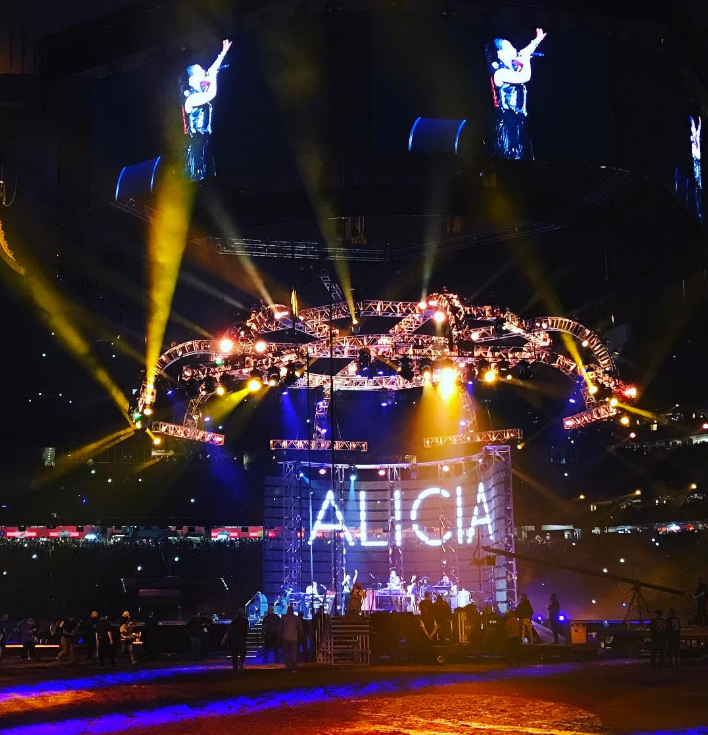 Alicia's name in lights