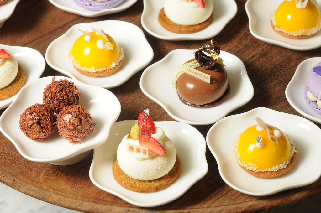 Sweets from Yauatcha at the revamped Galleria VI. (Dave Rossman Photo)