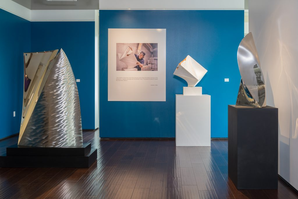 A view of the exhibition which marked the artist's American debut.