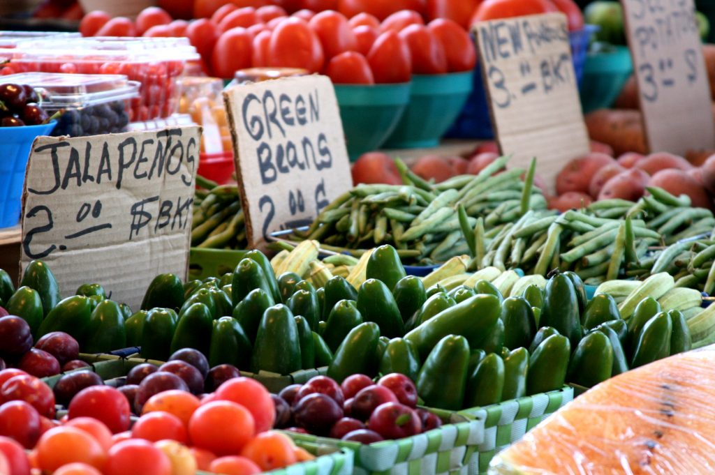 Dallas Farmers Market has produce, but that's not necessarily what draws people in.
