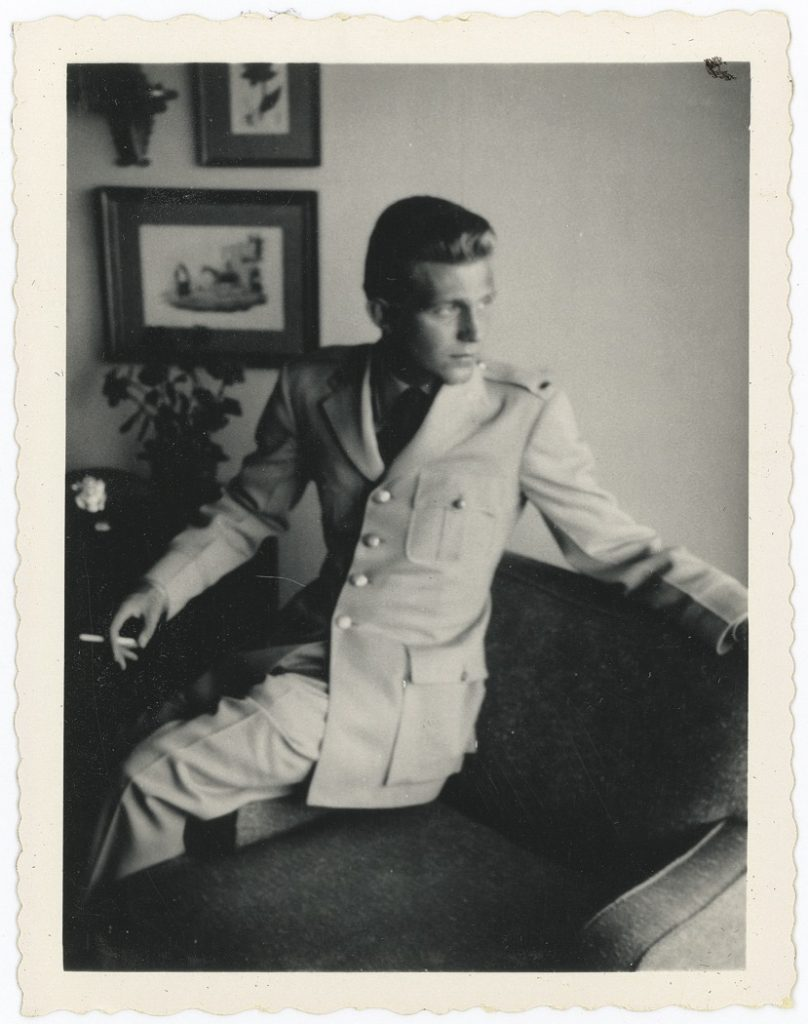 Joe Minton in his Air Force uniform during the 1960s in England.