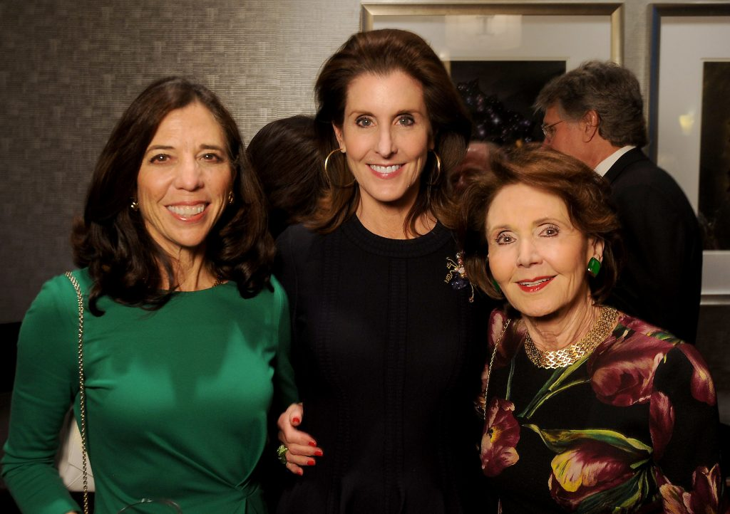 "From left: Jill Jewitt, Phoebe Tudor and Cyvia Wolff at the Teach For America ""Realizing One Day"" 2018 Benefit Dinner at the Royal Sonesta Hotel Thursday March 29,2018. (Dave Rossman Photo)"