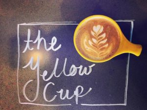 Coffee yellow cup