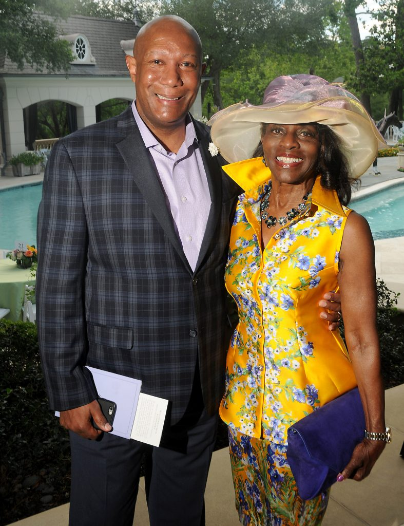 Cary and Clarease Yates at Hats, Hearts & Horseshoes: A Kentucky Derby Affair benefitting Bo's Place at the home of Paige and Tilman Fertitta Saturday May 05,2018.(Dave Rossman Photo)