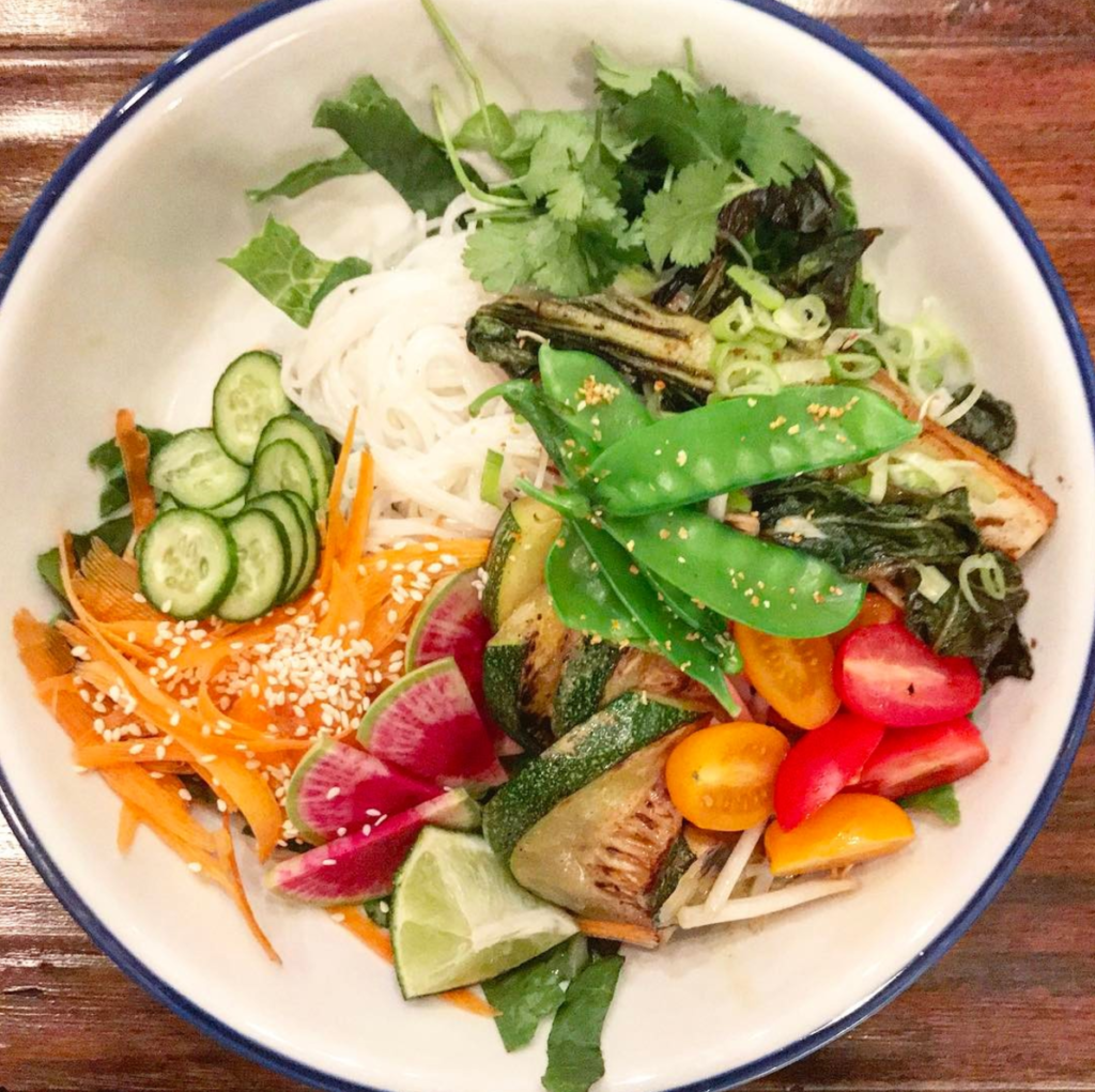 Verdine Spring's Vermicelli Bowl shows ts healthy food power.