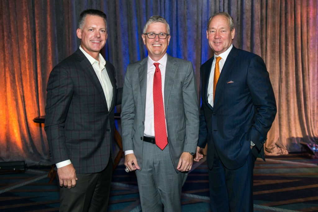 A.J. Hinch, Jeff Luhnow and Jim Crane in a happier moment.