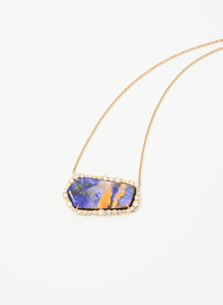 Kimberly McDonald Fire Opal and Diamond Necklace is just one of the eye catchers at Forty Five Ten.