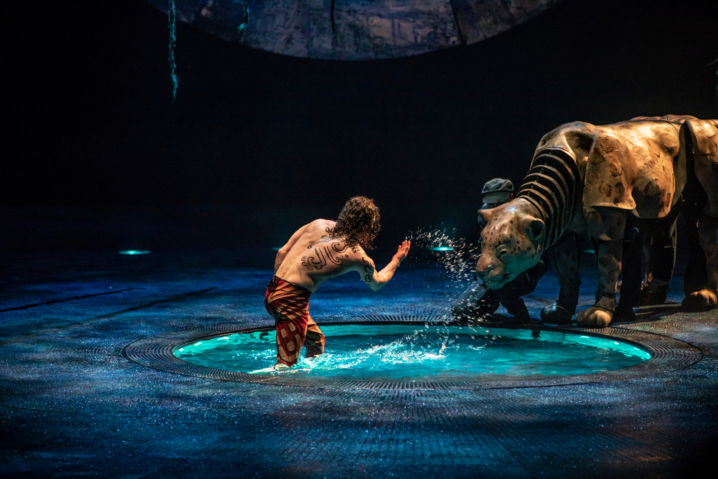 Water elements create surprises throughout Cirque du Soleil's Luzia. Photo by Matt Beard