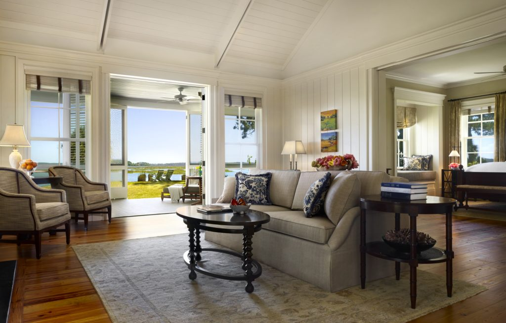 Palmetto Bluff home for sale Living room with a view