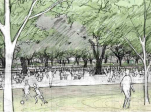 the commons at Hermann park