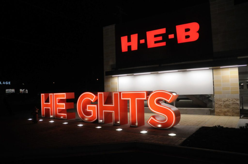 The long-awaited double-decker H-E-B is open for business —and Instagram pics. (Photo courtesy of H-E-B)