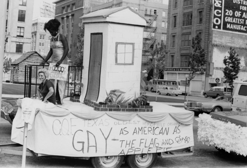 The 1972 march that over a decade later would be known as the Dallas Gay Pride Parade.