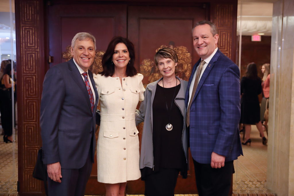 Tom & Robin Segesta, Tammy & Joel Cowley at Dress for Success Houston Corporate Guild Power Breakfast. (Photo by Quy Tran)