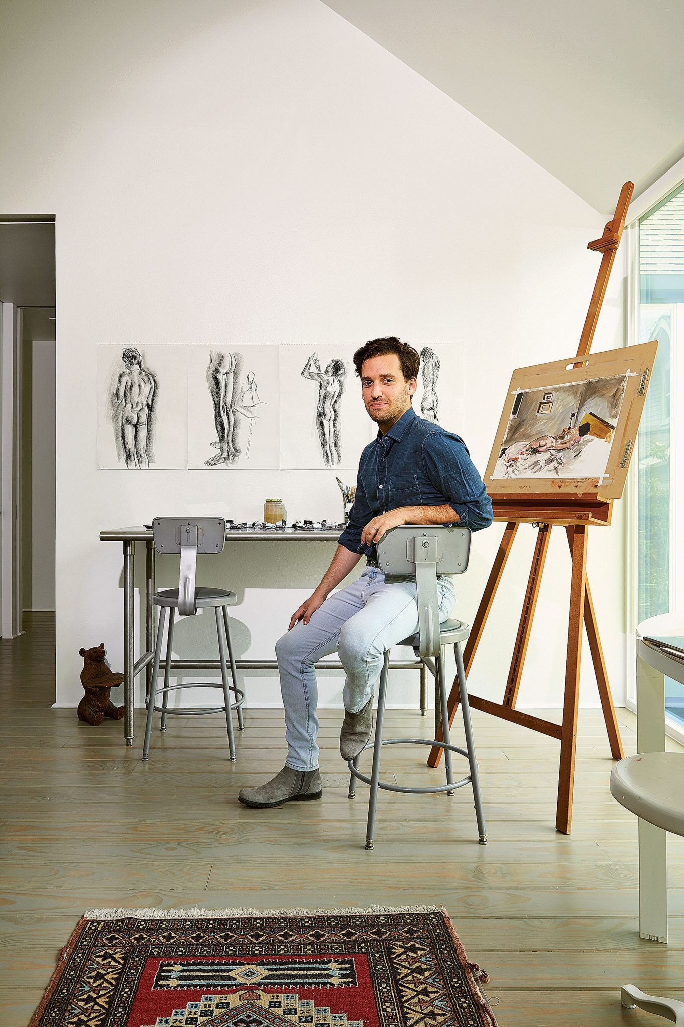 Luis de las Cuevas in his studio. (Photo by Pär Bengtsson)