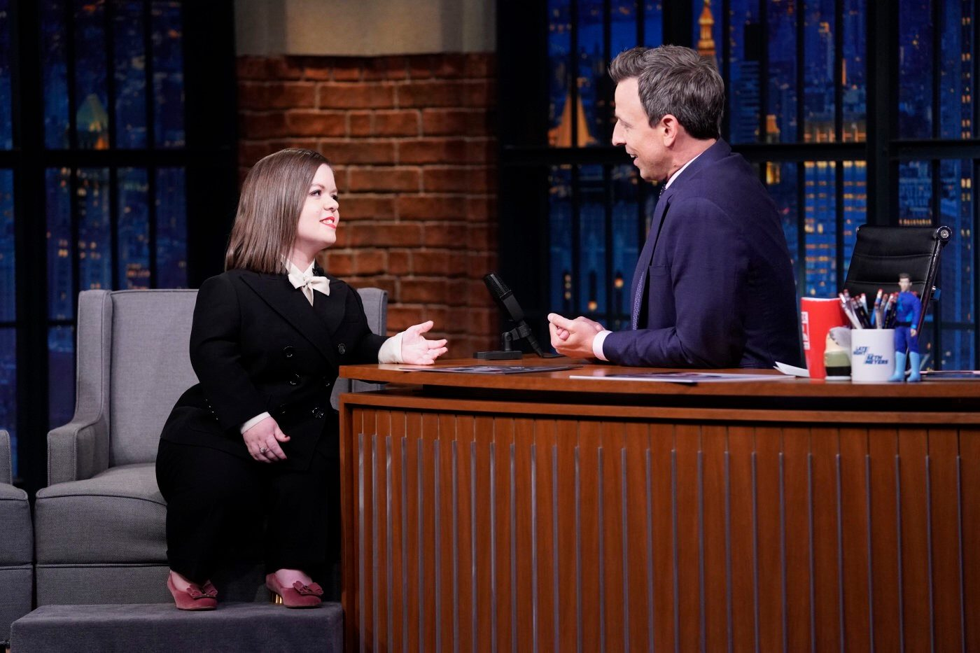 Sinéad Burke on Late Night with Seth Meyers