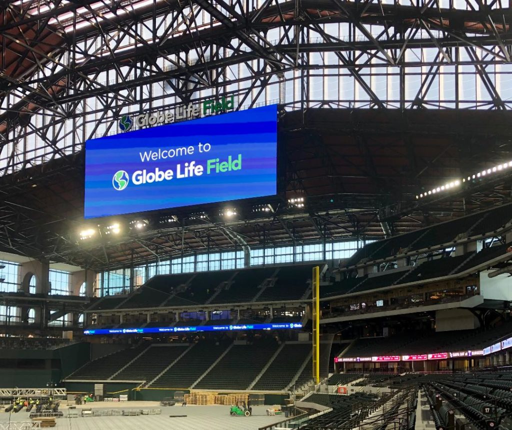 Globe Life Field – retractable roof (Photo by Courtney Dabney)