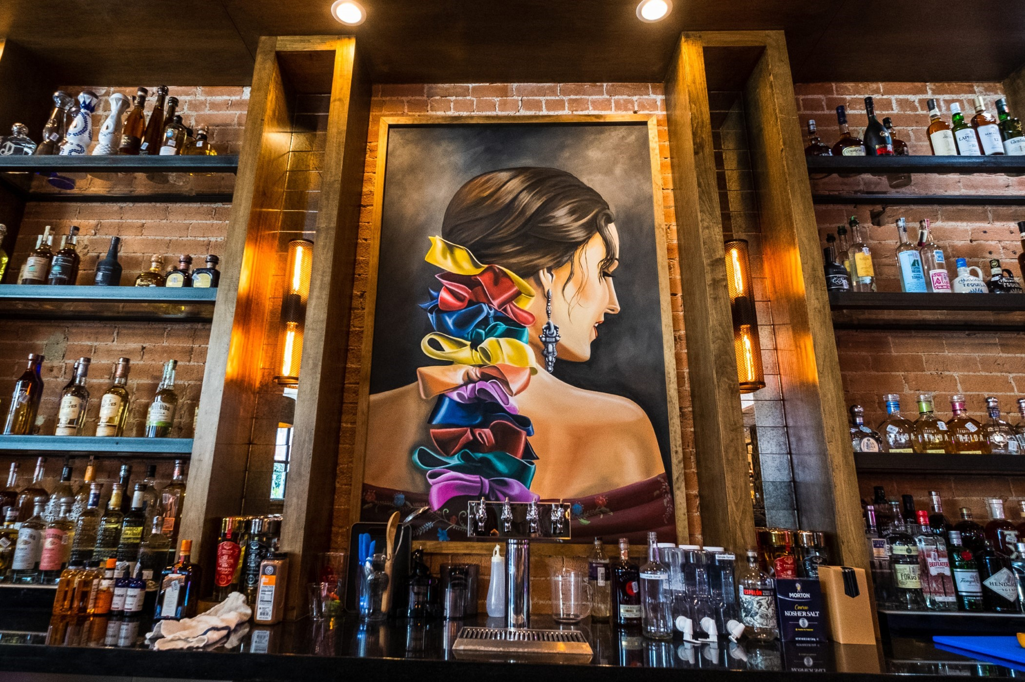 Primo's colorful bar is ready to pour