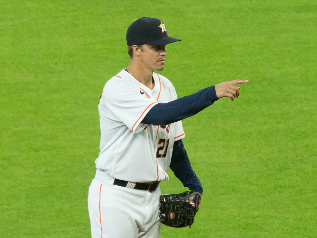 Houston Astros vs. San Francisco Giants. Zack Greinke pitch at Minute Maid Parkes as Geroge Springer returns to the lineup. Jose Altuve given the day off