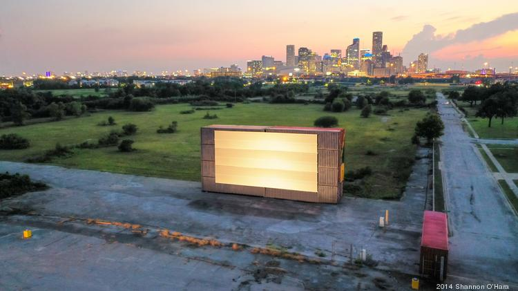 Moonstruck drive-in move theater Houston