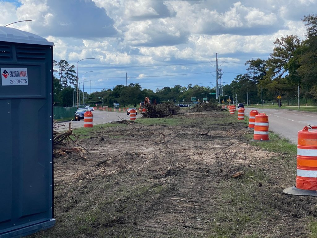 The median along Memorial Drive in Memorial Park is a stark contrast to what was there only last week. It will be covered with land bridges that create a tunnel for automobile traffic.