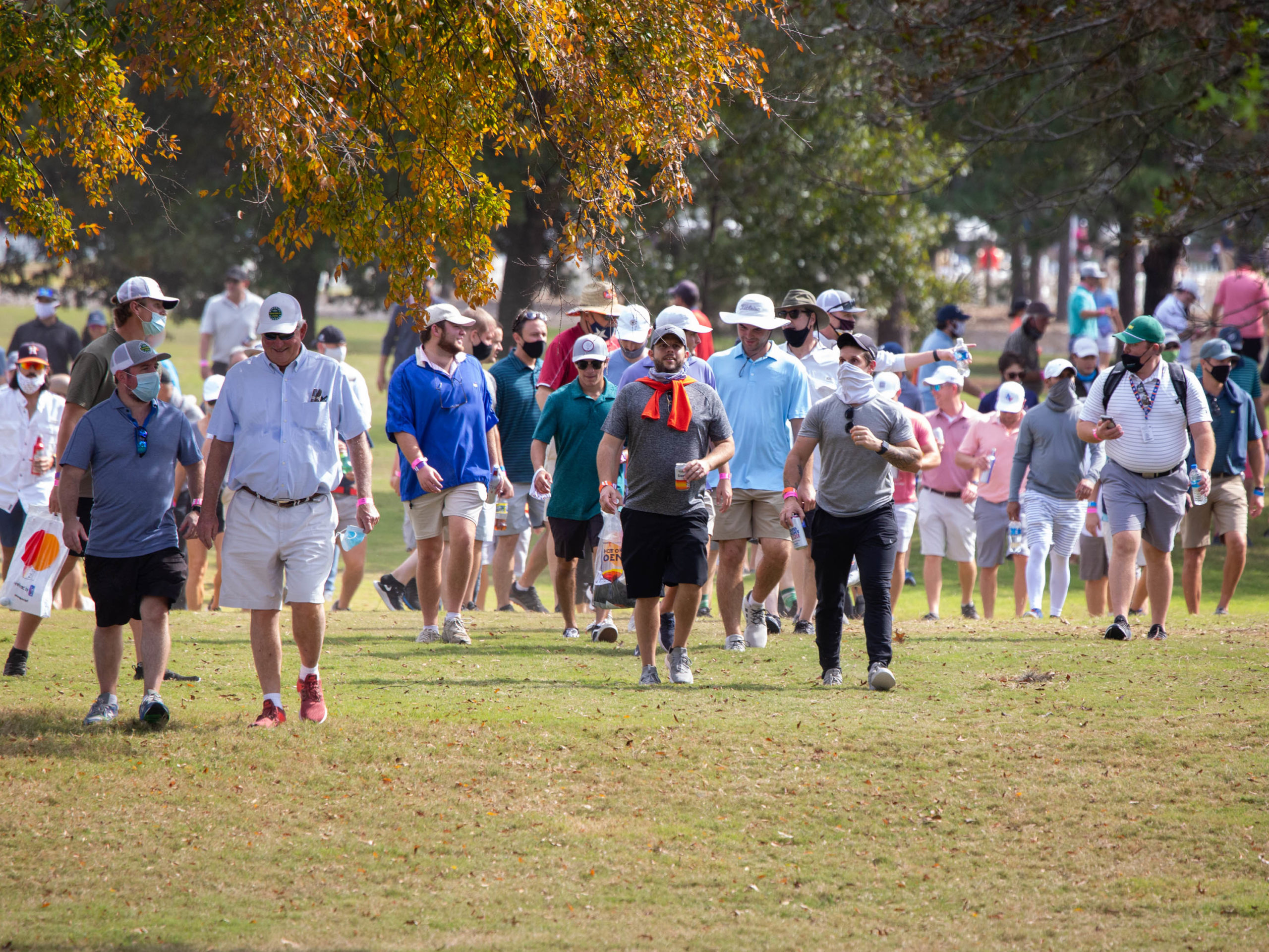 First round action at the 2020 Vivint Houston Open