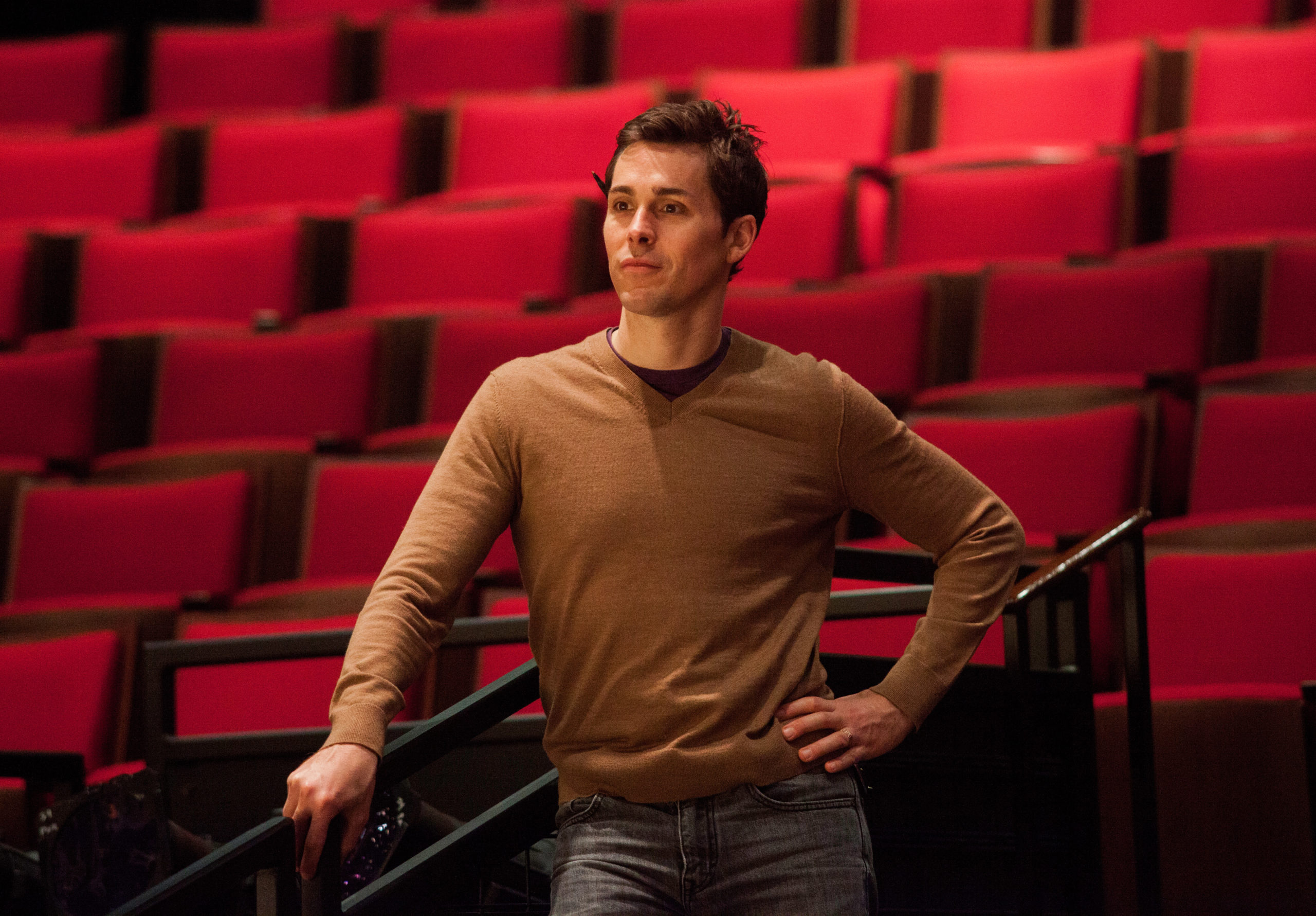 Director Brandon Weinbrenner at the Alley Theatre before the pandemic. (Photo by John Everett)