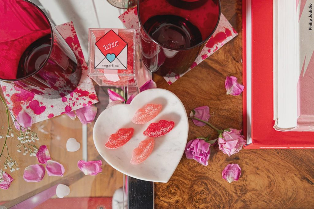 """Casamia and Dallas-based Boxed Bites teamed up for the Valentine's Day """"Be Mine!"""" box."""