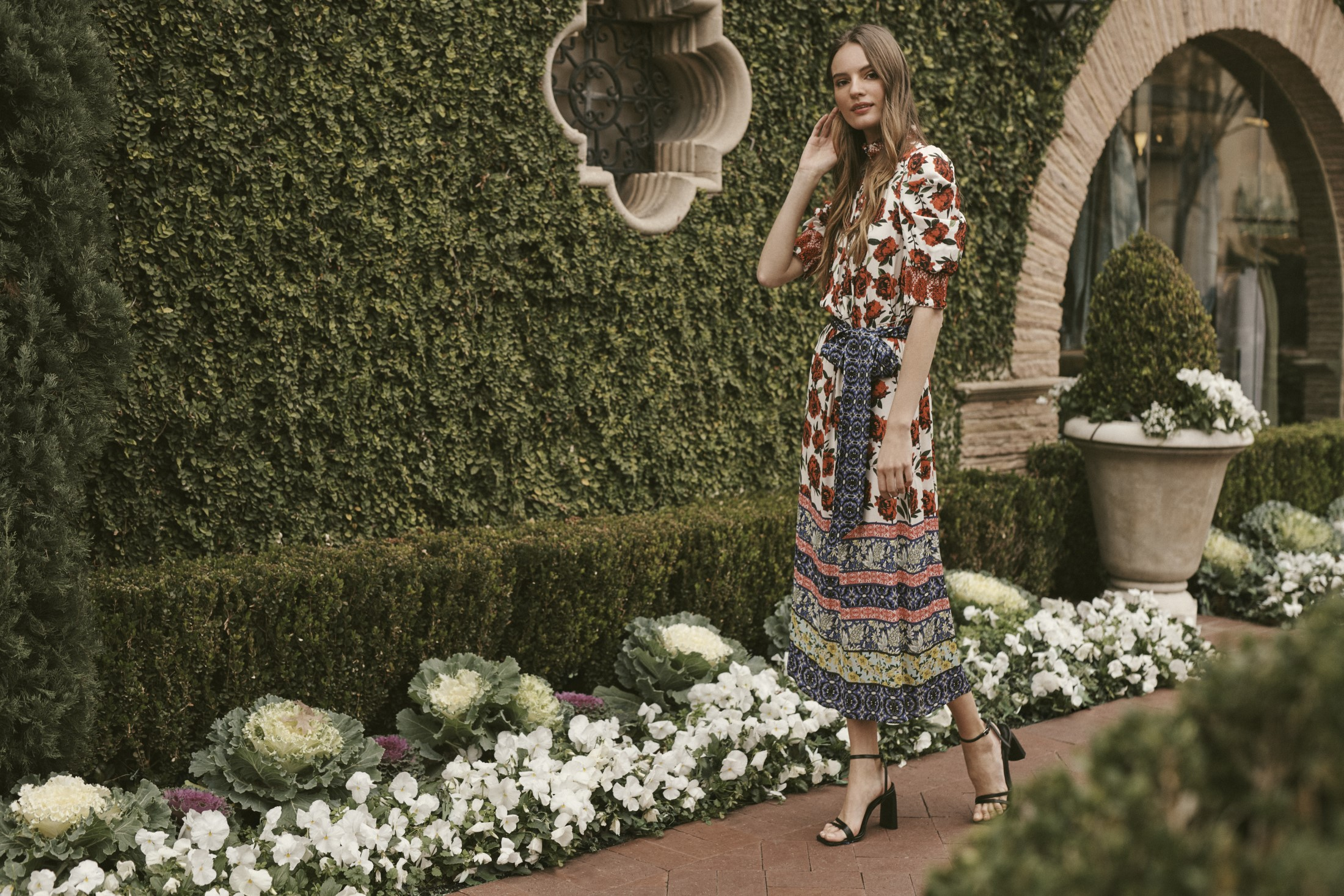 Highland Park Village is Ready for Spring – A feminine, Provencal dress at Alice + Olivia. Photo by Blair Getz Mezibovia.