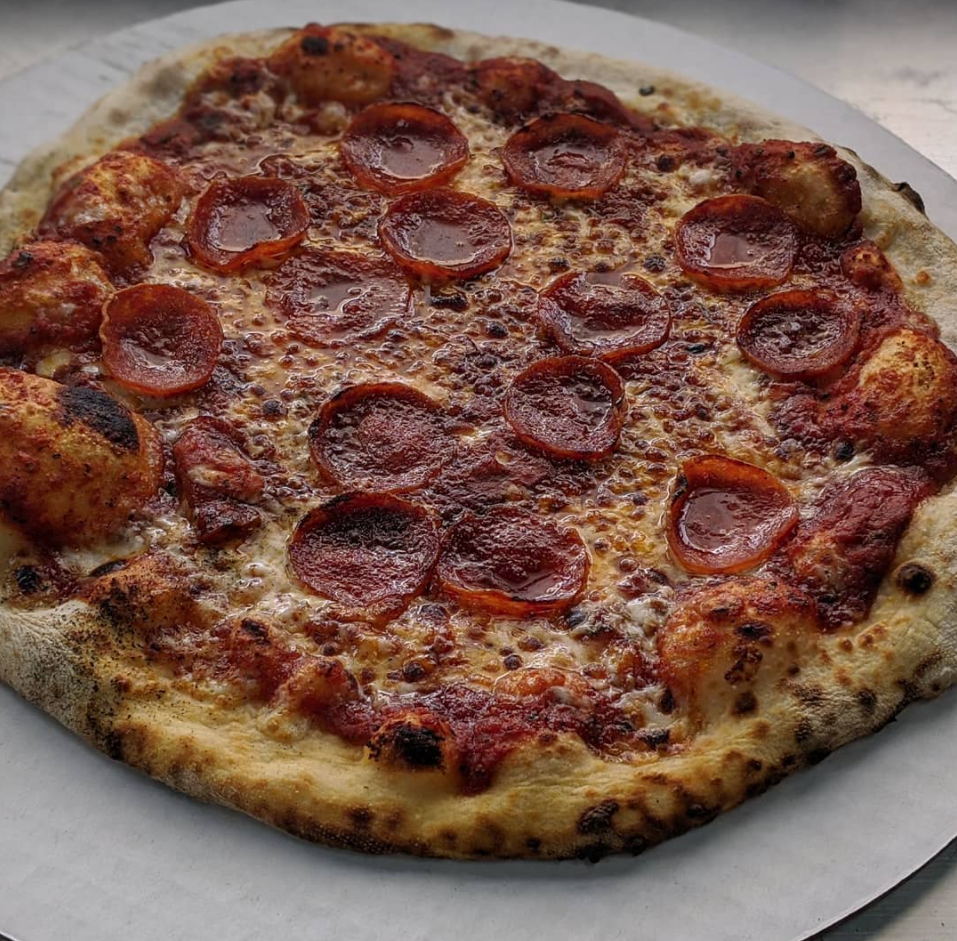 Wood-fired pepperoni pizza from Southern Yankee