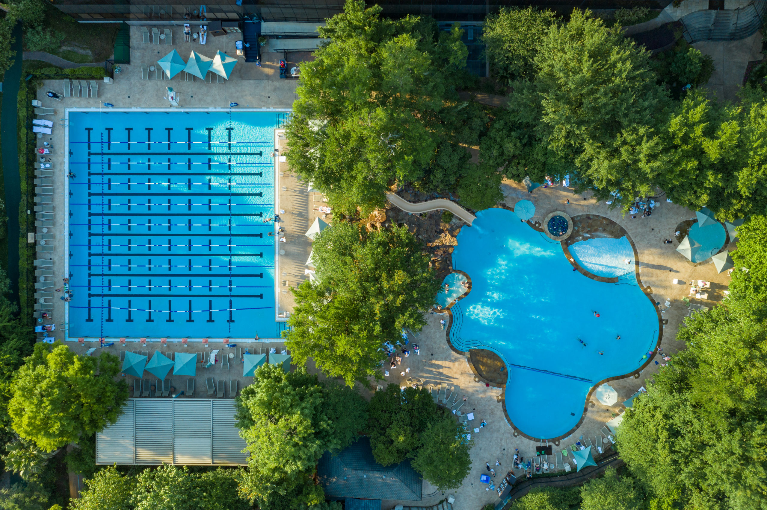 The Houstonian Club's three pools are heated year-round.